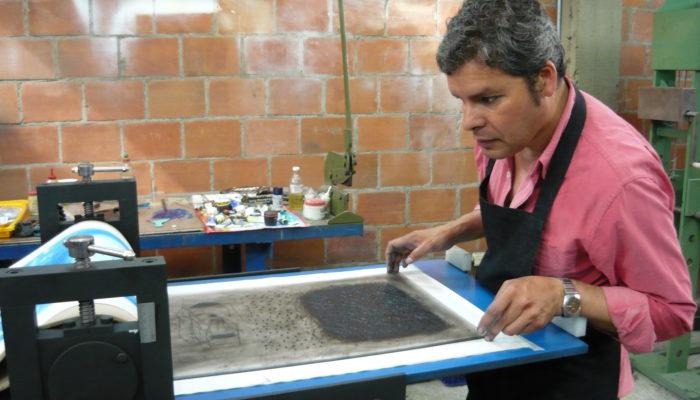 Maestro Ignacio Vera Ponce (México). - Taller de grabado Odiseo (Cali)