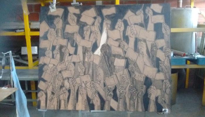 Xilografía en gran formato - MDF (1,50 m x 1,00 m)