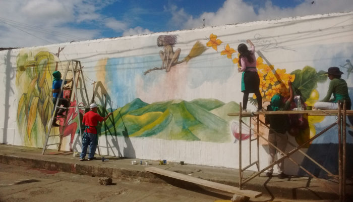 Mural en homenaje a la Unión, Valle del Cauca - Grupo de grabadores