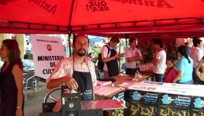 Maestro Colofonio  - 2do Encuentro  Nacional de Grabadores  2009 (Calarcá)