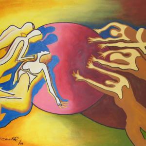 El bien y el mal - Acrílico sobre lienzo