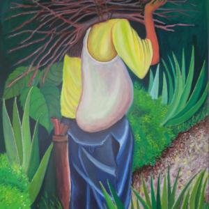 El leñador ciego - Oleo sobre lienzo