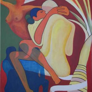 El infiel - Acrílico sobre lienzo