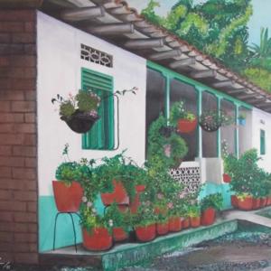 La casa de la conversión - Acrílico sobre lienzo