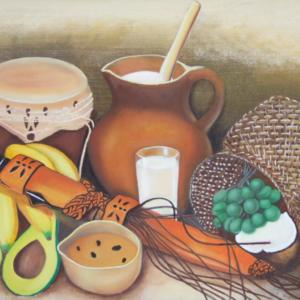 Bodegón valluno - Oleo sobre lienzo